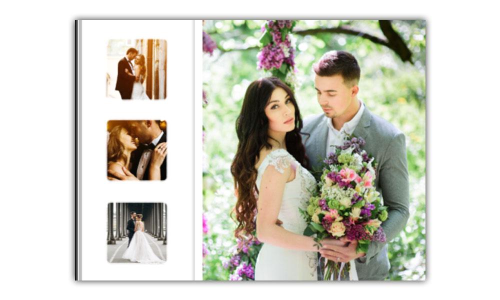 Hochzeitsfotobuch 400x300 Mm Mit Seiten Aus Echten Fotos