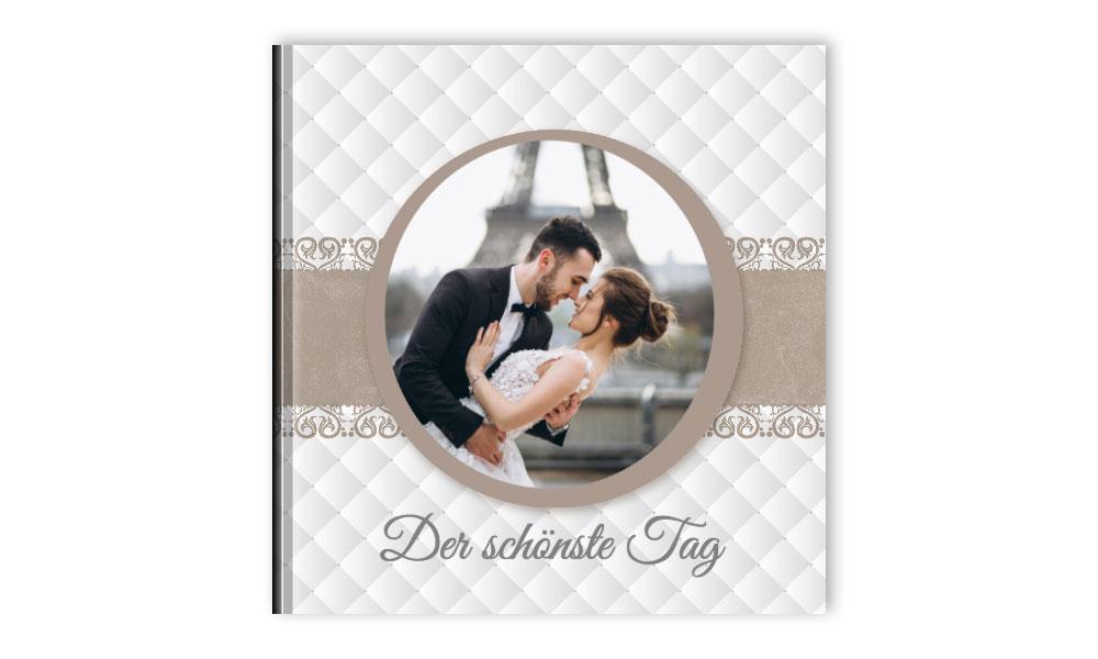 Hochzeitsfotobuch Quadratisch Mit Seiten Aus Echten Fotos